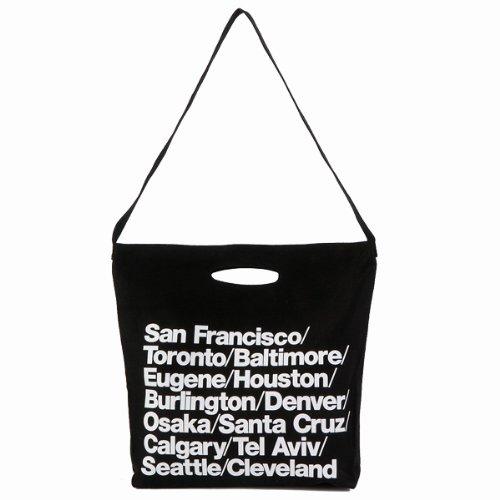 (アメリカンアパレル) American Apparel ブルデニム ウォーバン シティバッグ トート Cities Bag ブラック