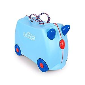 TRUNKI 子ども用 スーツケース キャリーバッグ 乗って遊べる 機内持ち込み 旅行 おもちゃ箱 収納 ライドオン・トランキ/ジョージブルー WLTR0248