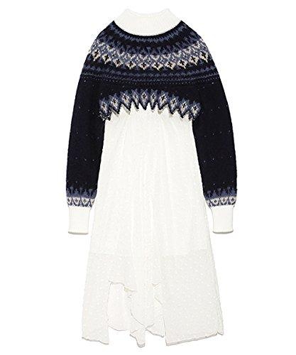[ファーファー] ノルディックセータードレス レディース RWNO184099
