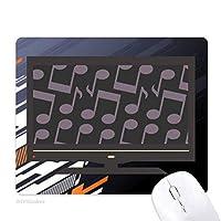 ダークパープルブラックノート ノンスリップラバーマウスパッドはコンピュータゲームのオフィス