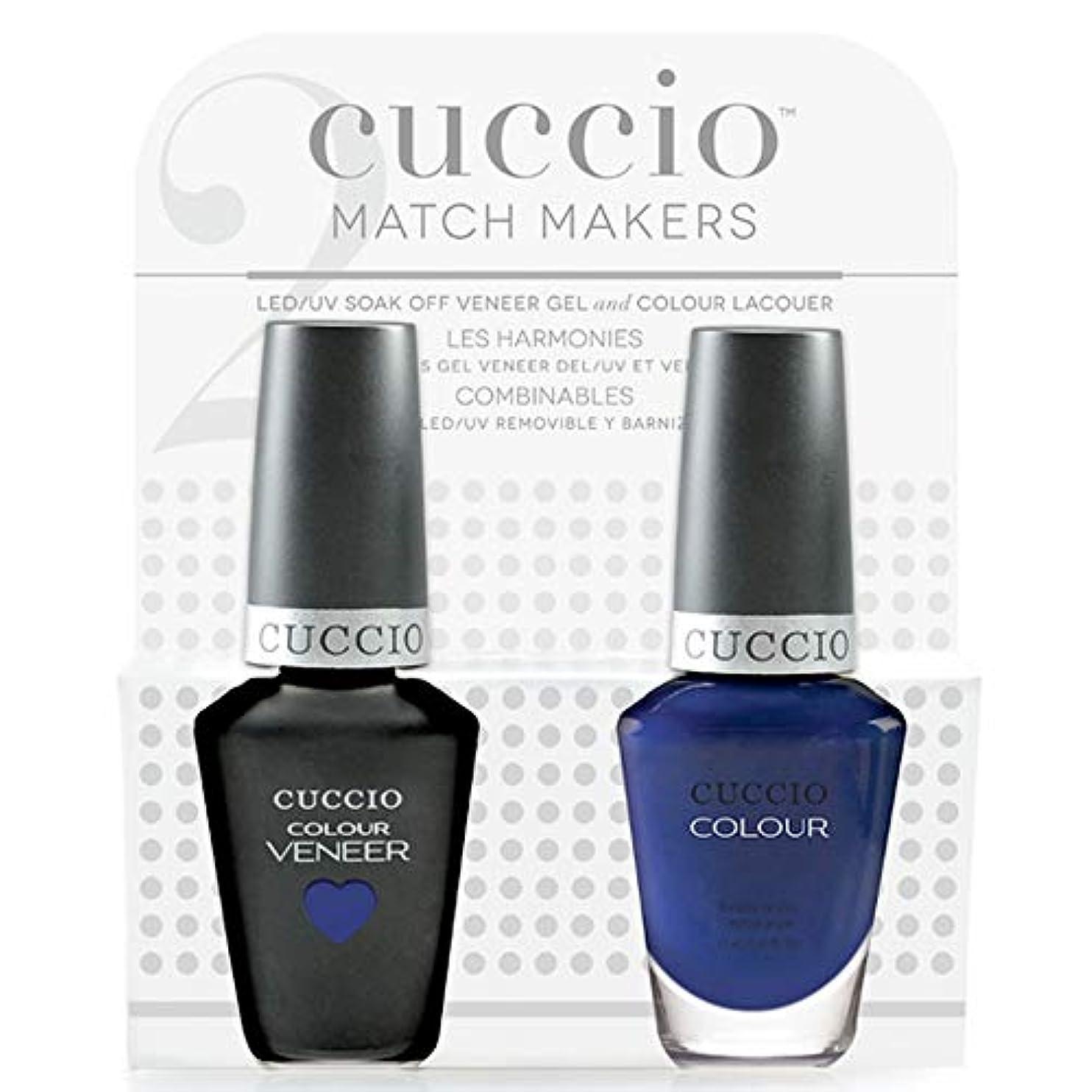 スクワイアアルカトラズ島形Cuccio MatchMakers Veneer & Lacquer - Lauren Blucall - 0.43oz / 13ml Each