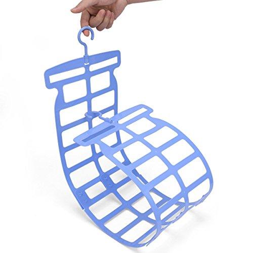 WARMQ 枕ハンガー 多機能 コンパクト収納 枕干し ぬいぐるみ クッション 座布団 干し ハンガー 乾燥 物干し 便利アイテム (ブルー)