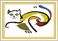 LovetheFamily クロスステッチキット DIY 手作り刺繍キット 正確な図柄印刷クロスステッチ 家庭刺繍装飾品 11CT ( インチ当たり11個の小さな格子)中程度の格子 刺しゅうキット フレームがない ホーム オフィス装飾 日本語解説書 手芸・手工芸 キット、芸術、工芸、DIY 手作り 家庭装飾品