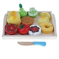 F Fityle 8カラー 磁気 キッチンセット 食べ物 野菜 果物 ごっこ遊び 子ども 知育玩具 おままごと おもちゃ - #7