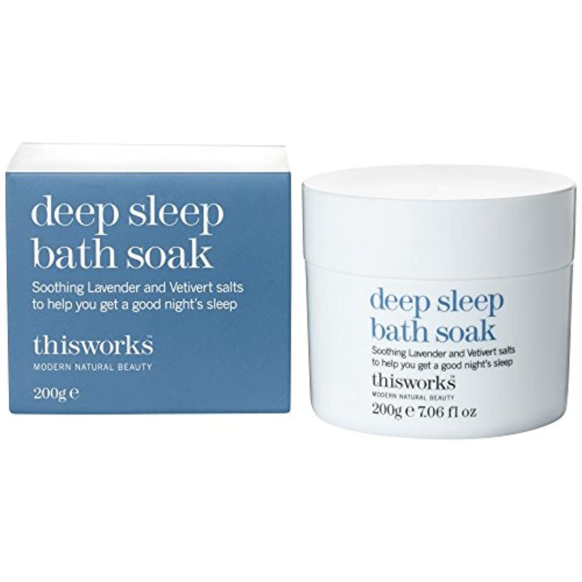 一貫性のない勧める矢じりこれは、深い眠り浴が200グラムを浸す働きます (This Works) (x6) - This Works Deep Sleep Bath Soak 200g (Pack of 6) [並行輸入品]