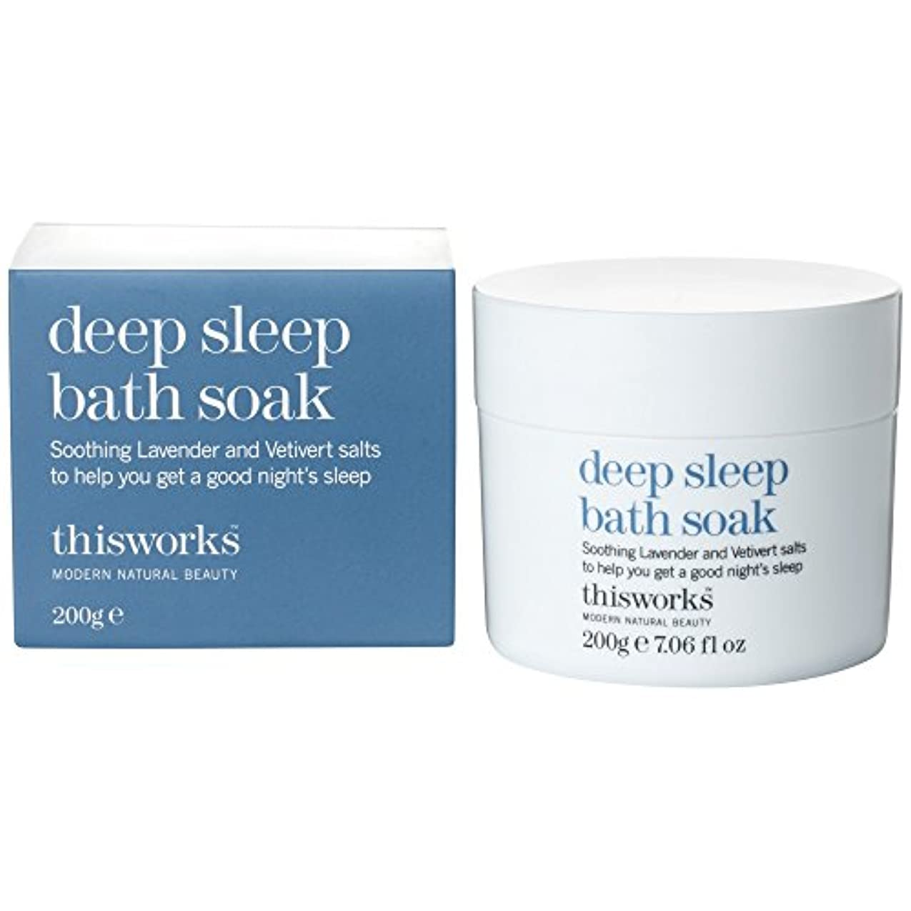徐々に独立彼女のこれは、深い眠り浴が200グラムを浸す働きます (This Works) - This Works Deep Sleep Bath Soak 200g [並行輸入品]