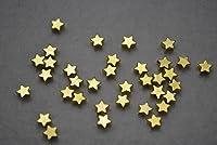 【 ビーズクラブ 】 アクセサリーパーツ ロンデル 星 ゴールド 50個 5mm