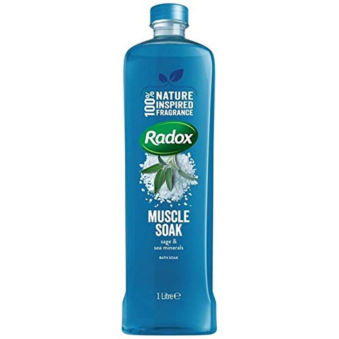 野生日常的にギャングスター[Radox] Radox筋はセージ&海のミネラルの1リットルに浸し風呂につかります - Radox Muscle Soak Bath Soak with Sage & Sea Minerals 1L [並行輸入品]