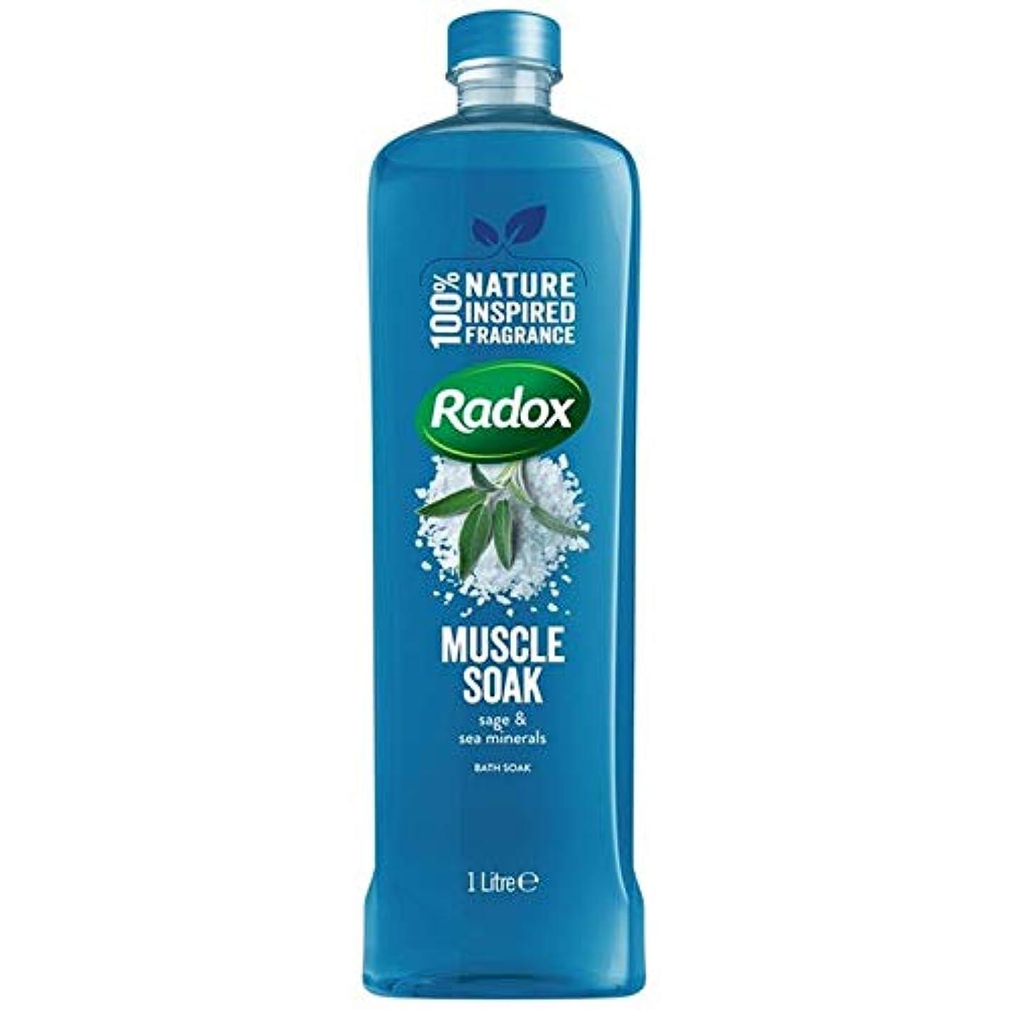 サンダル慣習見落とす[Radox] Radox筋はセージ&海のミネラルの1リットルに浸し風呂につかります - Radox Muscle Soak Bath Soak with Sage & Sea Minerals 1L [並行輸入品]