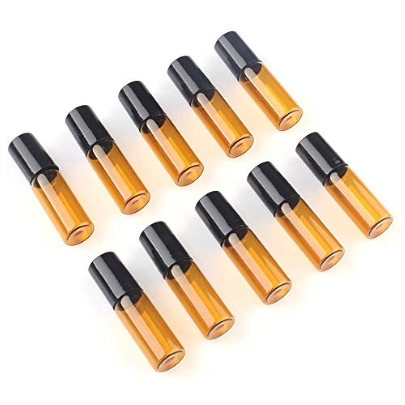 可能ストライプ失効アロマオイル 精油 小分け用 遮光瓶 10本セット (5ml)