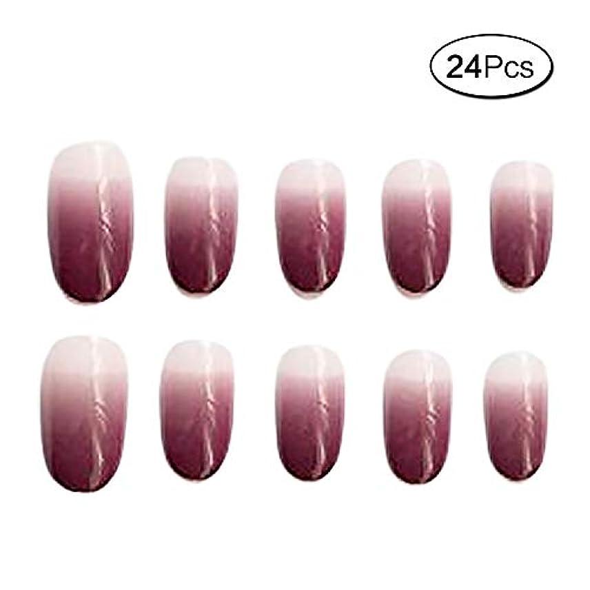 収縮多様性明るくする24 個 ネイルチップ 夏の 優雅 透明 ゼリー 短い 無地 可愛い ウェディング ブライダル