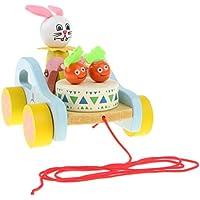 KESOTO 高品質 木製 プルトイ ウォーキングおもちゃ 手押し車 ベビーおもちゃ