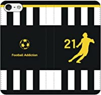 iPhone選択可:サッカーシルエット手帳ケース(ホーム/トリノ_21番_A) iPhone7Plus用