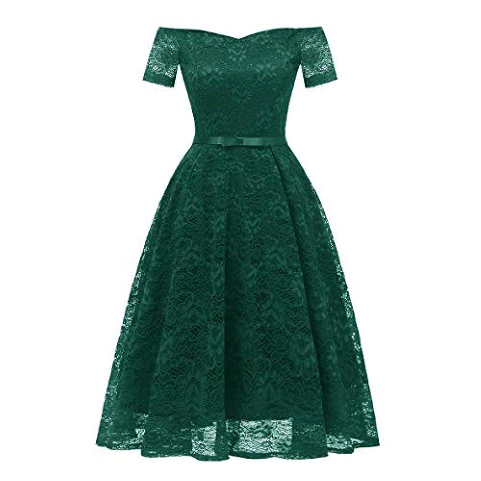 散歩名目上の時々Blackfell 女性のドレスハイエンドの襟半袖レースのヴィンテージドレス