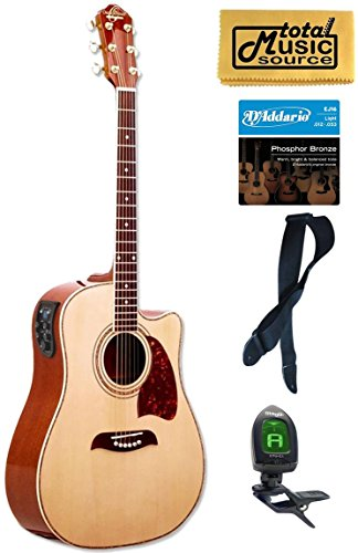 OG2CE Oscar Schmidt オスカーシュミット Acoustic/エレキギター, Washburn, Dreadnought, チューナー, 4 EQ アコースティックギター アコギ ギター (並行輸入)