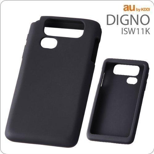 レイ・アウト by KDDI DIGNO ISW11K ケースシルキータッチシリコンジャケット/ブラック RT-ISW11KC1/B