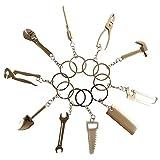 Nash ミニチュア 工具 キーホルダー シルバー アクセサリー ミニ デザイン ツール 建築 雑貨 10個 セット
