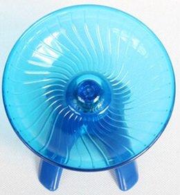 回し車 走るおもちゃ 円盤型 + トイレスコップ付き /SV431 (大, ブルー・青)