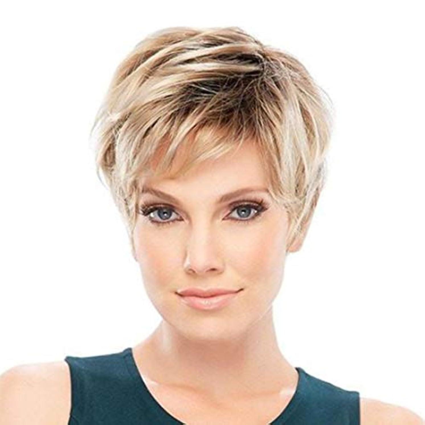 スペイン排気シングルSummerys 女性のための短いストレートヘアウィッグ化学繊維高温シルクウィッグヘッドギア