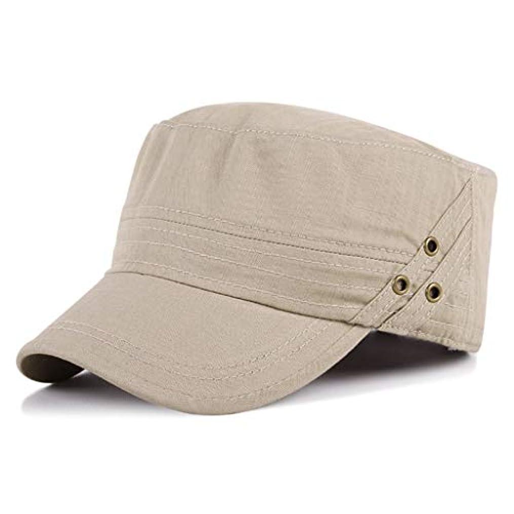 支配するとげのある相対性理論日よけ帽 日曜日の帽子の平らなシルクハットの春および秋の人の夏の屋外の日焼け止めの帽子55-60cm ZHAOSHUNLI (Color : Beige)