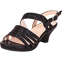 Cambridge Select Girls' Open Toe Strappy Crystal Rhinestone Low Heel Sandal (Toddler/Little Kid/Big Kid)
