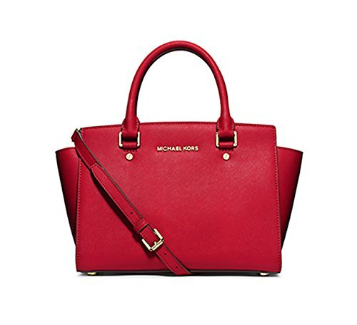 [マイケルマイケルコース] MICHAEL MICHAEL KORS SELMA MD TZ SATCHEL 30S3GLMS2L 9color (RED) [並行輸入品]