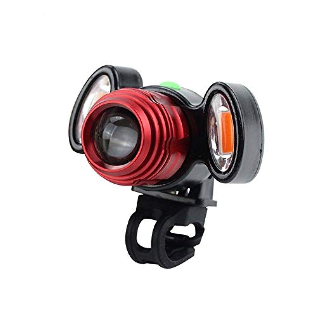禁輸ローズ包括的USB充電式自転車用フロントライト、防水性、スーパーブライト自転車用LEDライト&テールライトセット屋外での使用にも便利なサイクリングセーフティ懐中電灯