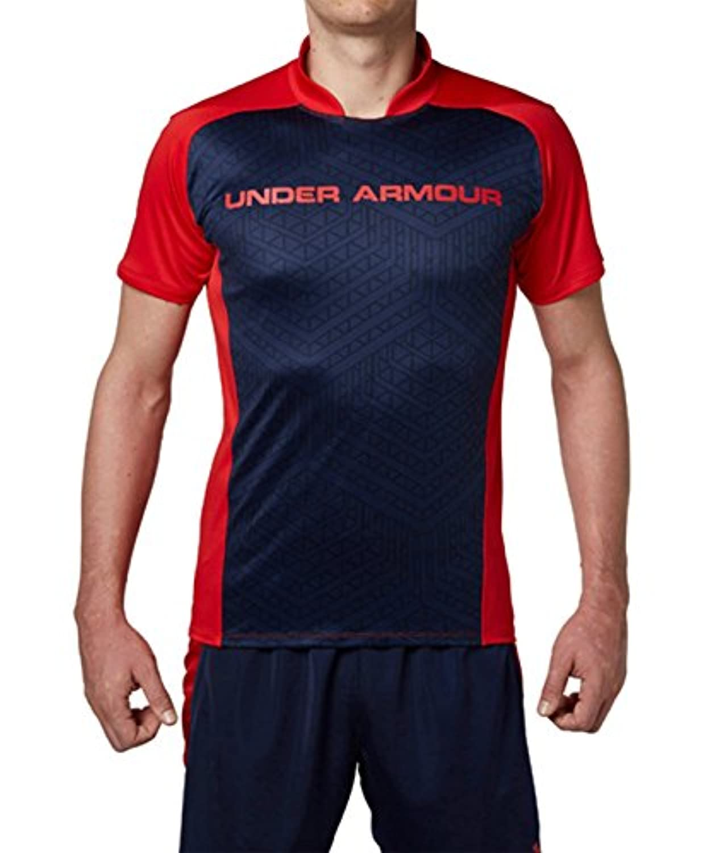 アンダーアーマー チャレンジャー トレインTシャツ UA Football-Challenger Train SS<Text> 600:RED/MDN/RED 1312551 MD
