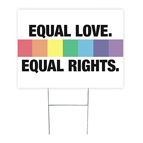 Equal Love Equal Rights Lgbt Yard Sign with Stake