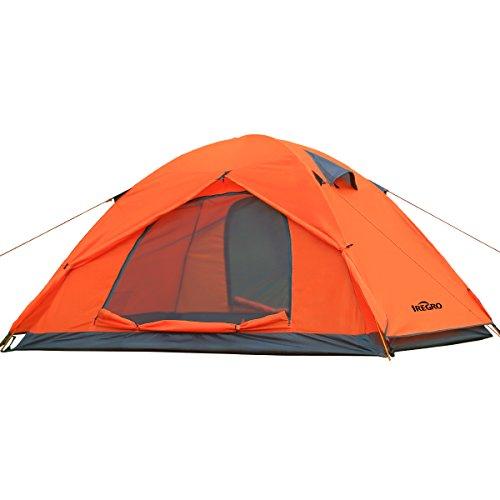 IREGRO テント 2人用 アウトドア 二重層 超軽量 コ...