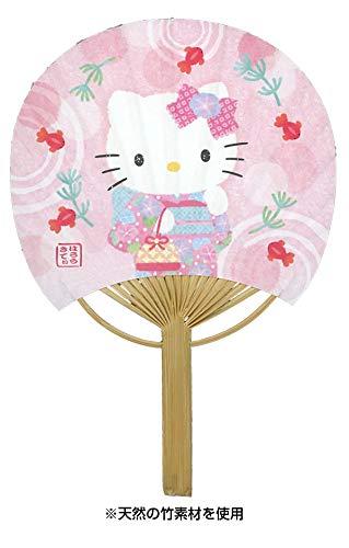 グリーティングカード 多目的 夏 サマー 竹製うちわカード キティと金魚 S4236 柄が本物の竹です 多用途 夏カード サマーカード きてぃ はなび サンリオ