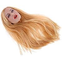 Perfk 1/6スケール 女性 頭の彫刻 ヘッドモデル 12インチアクションフィギュア用 全5選択 - C