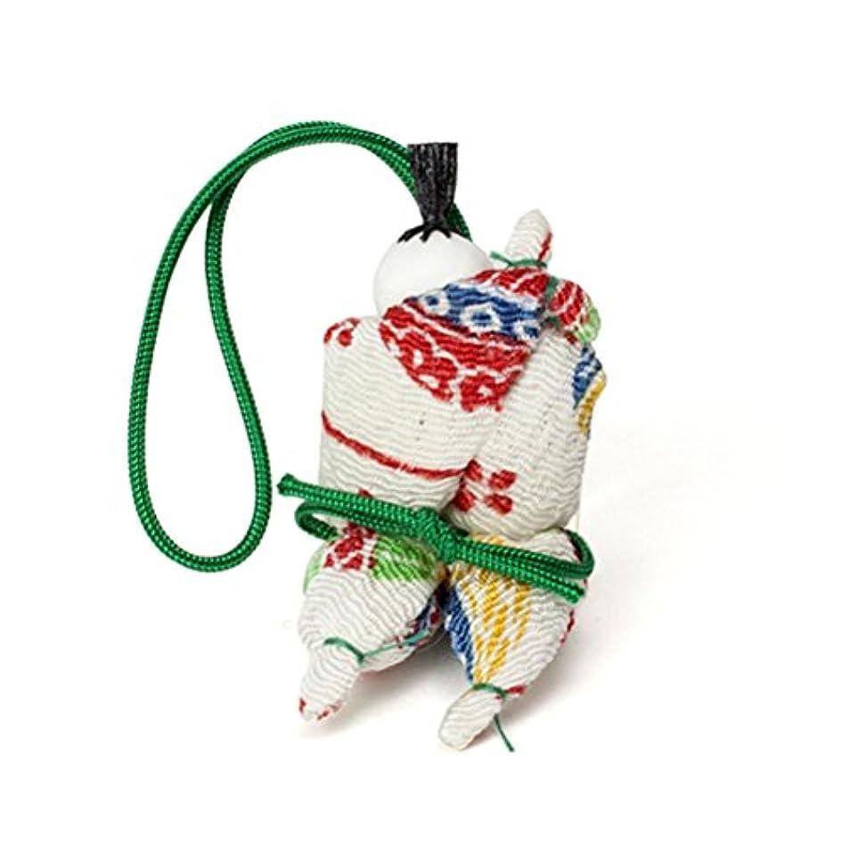 保険前兆尾松栄堂 匂い袋 京わらべ 羅漢さん 1個入 (色は選べません?柄か無地をお選びください) (柄)