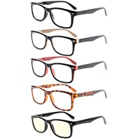 Eyekepper 5-Pack Classic Spring-Hinges Quality Reading Glasses Include Computer Readers +1.75