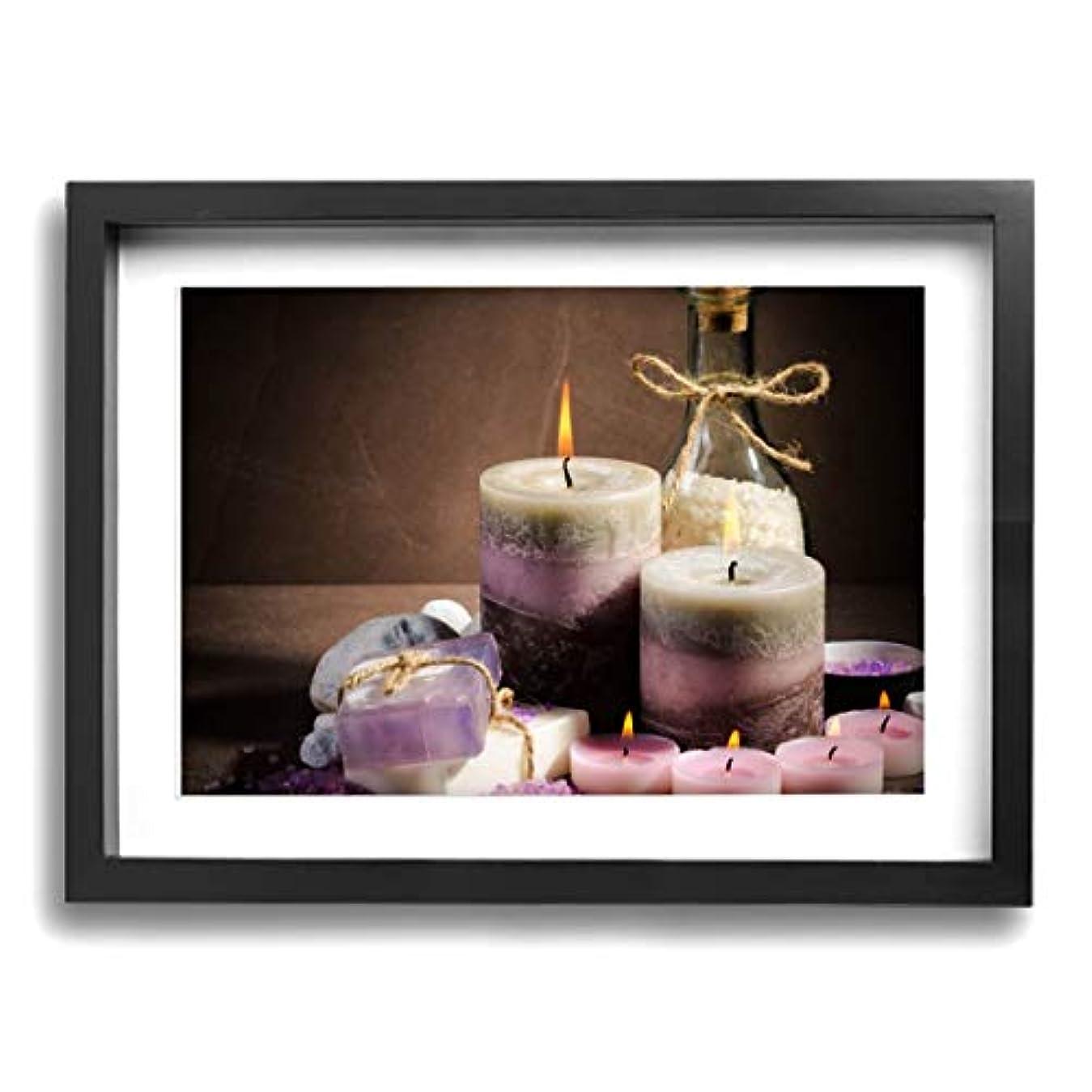 通常安いですトロピカル魅力的な芸術 30x40cm Spa Purple Color Candle Oil キャンバスの壁アート 画像プリント絵画リビングルームの壁の装飾と家の装飾のための現代アートワークハングする準備ができて