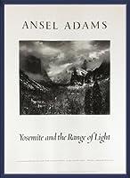 ポスター アンセル アダムス Yosemite and the Range of Light 額装品 ウッドベーシックフレーム(ブルー)