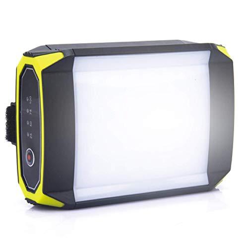 LEDランタン キャンプライト LED投光器 6000mAhモバイルバッテリー USB充電式 IP65 防水防塵 軽量 懐中電灯 強力LEDライト 停電対策 防災対策 災害時備えにもアウトドア ハイキング 登山 夜釣り 電球色