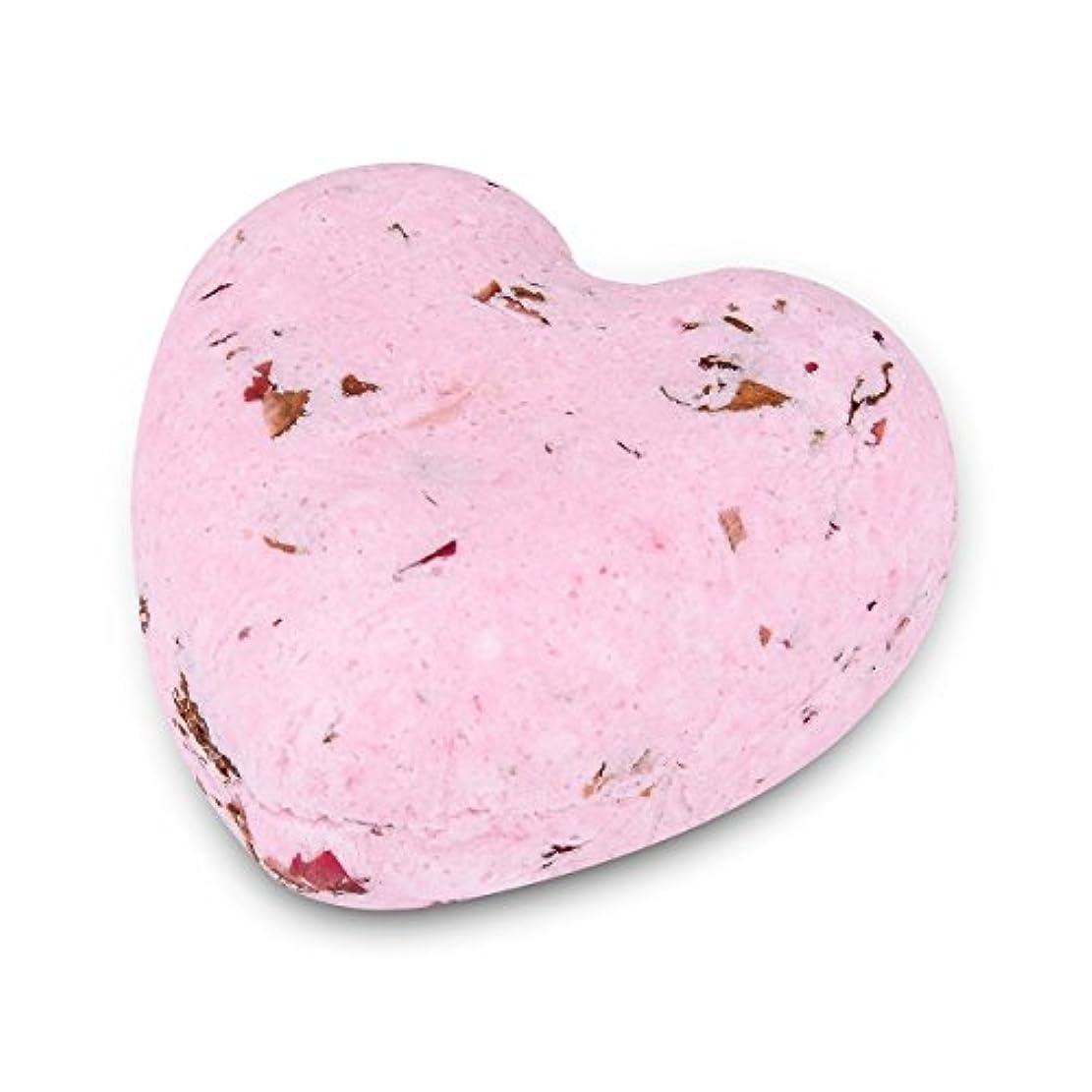 楽しいリットルオピエートHOUSWEETY ローズの香り ハート型 バスボム 炭酸入浴剤 入浴料 海塩 アロマオイル バスボール 1個入り
