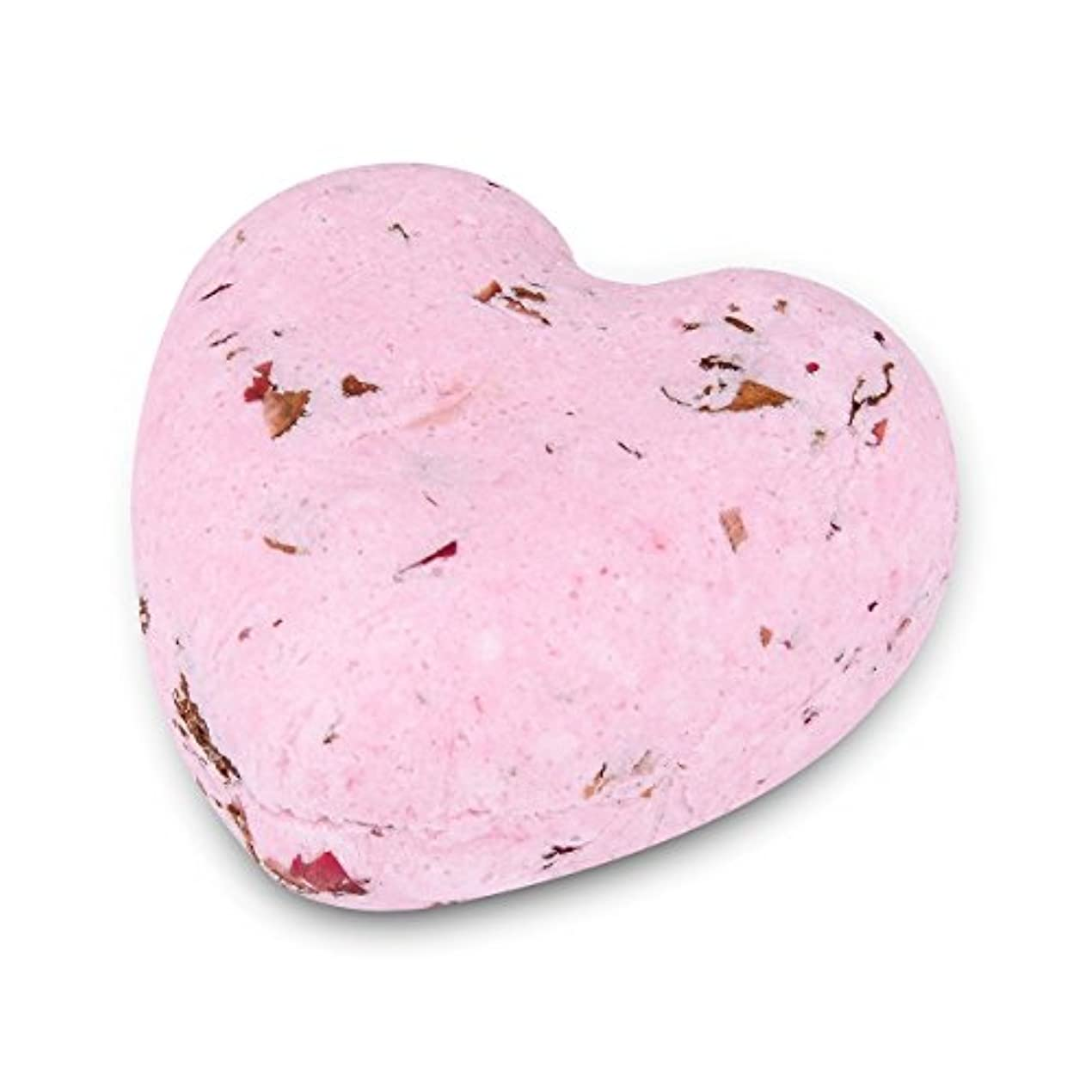 報奨金実装するキラウエア山HOUSWEETY ローズの香り ハート型 バスボム 炭酸入浴剤 入浴料 海塩 アロマオイル バスボール 1個入り