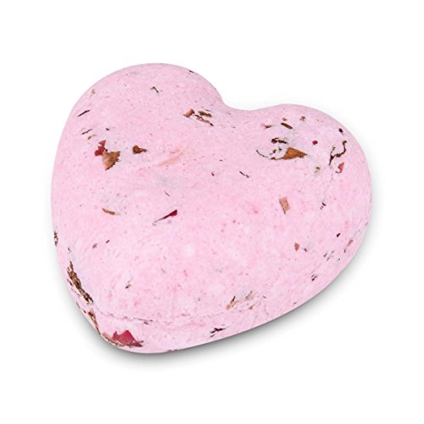 散文酸解釈するHOUSWEETY ローズの香り ハート型 バスボム 炭酸入浴剤 入浴料 海塩 アロマオイル バスボール 1個入り
