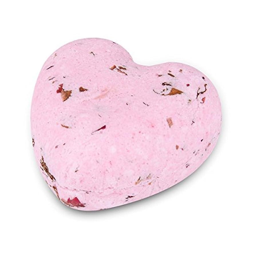 食事合理化人種HOUSWEETY ローズの香り ハート型 バスボム 炭酸入浴剤 入浴料 海塩 アロマオイル バスボール 1個入り