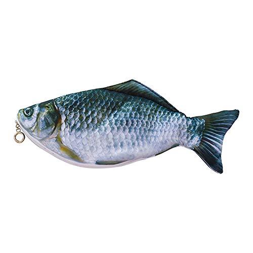 なりすましペンケース、魚ペンバッグ、イカシミュレーション生の魚文房具バッグ、小学生の鉛筆ケース、学校の事務所に適した27 * 11 cm
