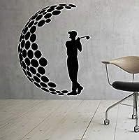 Wxmca ウォールビニールステッカー男の子スポーツの装飾男ゴルファープレーヤークラブステッカー壁画ホームインテリアアートの装飾42×53センチ