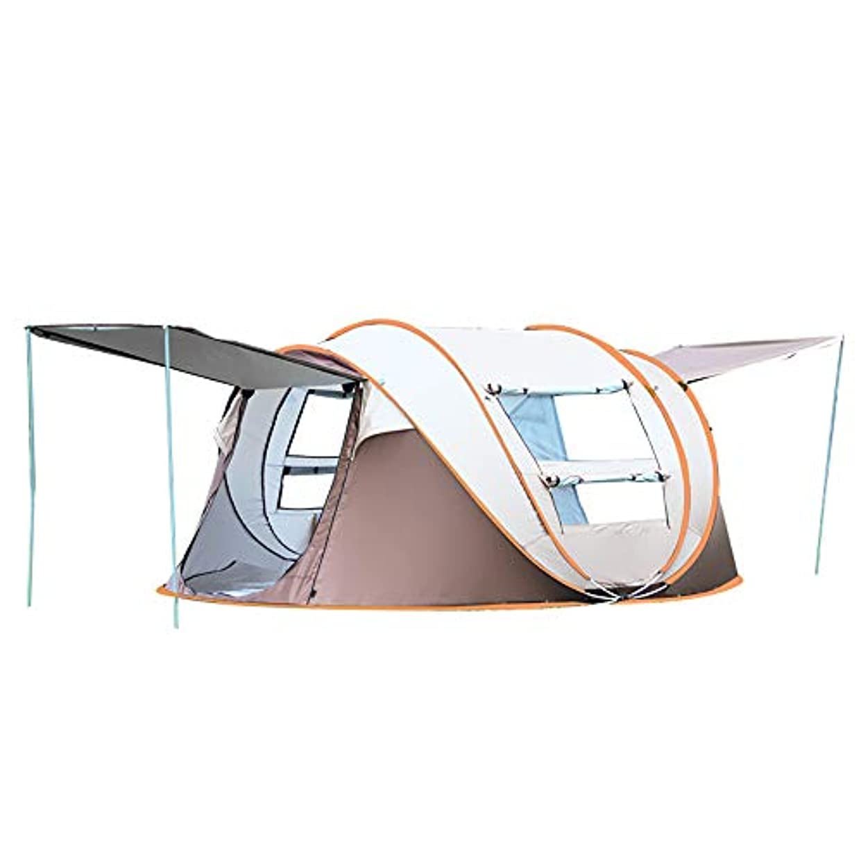 崖バスト制限する自動ポップアップキャンプテント5-8人100%防水簡単セットアップ
