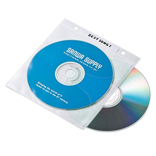 サンワサプライ DVD・CD不織布ケース リング穴付き・1...