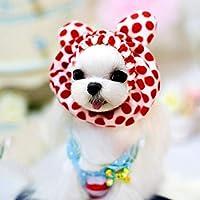 ペット用品 ペット服 1.5〜10キロ ペット 小さな耳 赤ドット柄 内径:5 cm ペット用 (SKU : Hc0295a)