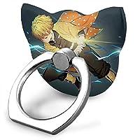 鬼滅の刃 スマホスタンド 猫型 ホールドリング スマホリング ネコリング 落下防止リング 360回転 スマートフォンリング 携帯電話ホルダー 軽量 IPhone/Android 各種に対応