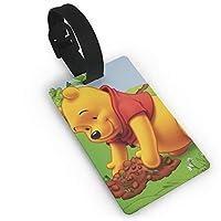 プーさんウニ バッグ用ネームタグ 旅行用 カバン装飾 出張 旅行用 ネームタグ旅行小物 紛失防止 5.4x8.5cm
