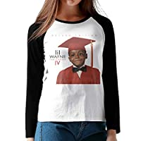 リル・ウェイン さらっと コットン Tシャツ 長袖 レディース Black L