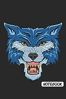 Notebook: DIN A5 Wolf Notizheft kariert | 120 Seiten kariertes Wolf Notizbuch fuer Notizen in Schule, Universitaet, Arbeit oder zuhause. | Eine tolles Geschenk fuer Ihre Liebsten.